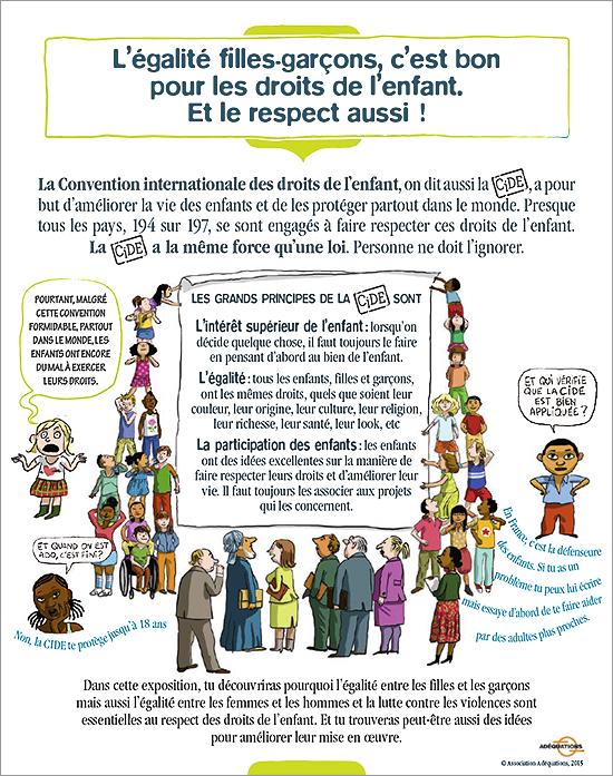 Souvent L'exposition « L'égalité filles-garçons, c'est bon pour les droits  JQ57