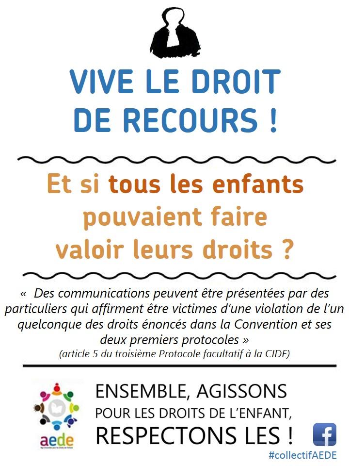 Vive Le Droit De Recours Et Si Tous Les Enfants Pouvaient Faire